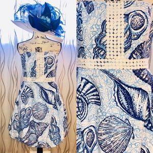 Lilly Pulitzer Regency Blue Bubble Dress